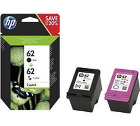 HP ORIGINAL - HP 62 / N9J71AE Pack de 2 cartouches de marque Noir + Couleurs
