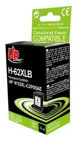 UPRINT - UPrint 62XL Noir (600 pages) Cartouche remanufacturée HP Qualité Premium