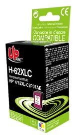 UPRINT - UPrint 62XL Couleur (415 pages) Cartouche remanufacturée HP Qualité Premium