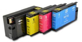 950XL / 951XL Promotion pack de 4 Cartouches remanufacturées C2P43AE (Noire, Cyan, Magenta, Jaune)