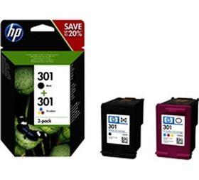 HP ORIGINAL - PROMO HP 301 / N9J72AE (Noir + Couleurs) Pack de 2 cartouches de marque