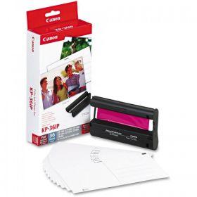CANON ORIGINAL - Kit papier + encre 36 feuilles format carte postale pour série CP - KP36IP
