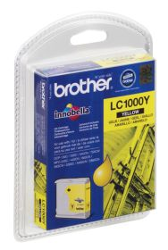 BROTHER ORIGINAL - Brother LC-1000 Jaune (6,5ml) Cartouche de marque