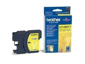 BROTHER ORIGINAL - Brother LC-1100HY Jaune (750 pages) Cartouche de marque