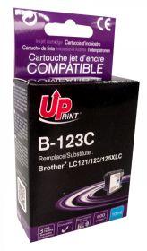 UPRINT - UPrint LC-123 cyan Cartouche compatible Brother Qualité Premium