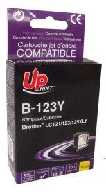 PREMIUM - UPrint LC-123 Jaune Cartouche compatible Brother Qualité Premium