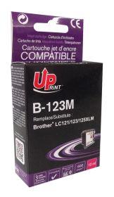 PREMIUM - UPrint LC-123 Magenta Cartouche compatible Brother Qualité Premium