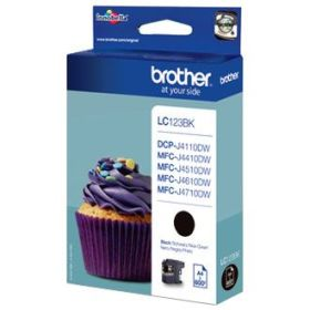 BROTHER ORIGINAL - Brother LC-123 Noir (600 pages) Cartouche de marque