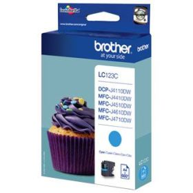 BROTHER ORIGINAL - Brother LC-123 Cyan (600 pages) Cartouche de marque