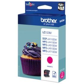 BROTHER ORIGINAL - Brother LC-123 Magenta (600 pages) Cartouche de marque