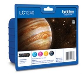 BROTHER ORIGINAL - Brother LC-1240 Value pack de 4 Cartouches (Noir, Cyan, Jaune, Magenta)