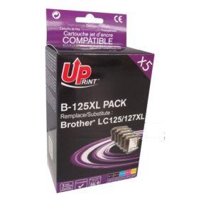 UPRINT - UPrint LC-125/ LC127 Pack 5 cartouches compatibles Brother Qualité Premium