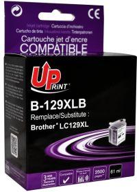 UPRINT - UPrint LC-129XL Noir (2600 pages) Cartouche encre compatible Brother Qualité Premium