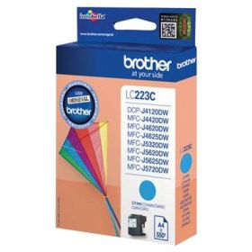 BROTHER ORIGINAL - Brother LC-223 Cyan (550 pages) Cartouche de marque