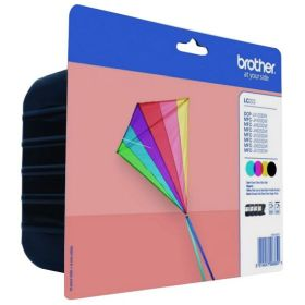 BROTHER ORIGINAL - Brother LC-223 Pack de 4 cartouches Noir, Cyan, Magenta, Jaune