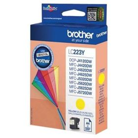 BROTHER ORIGINAL - Brother LC-223 Jaune (550 pages) Cartouche de marque