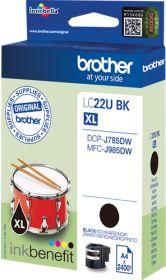 BROTHER ORIGINAL - Brother LC-22U XL Noir (2400 pages) Cartouche de marque