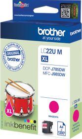 BROTHER ORIGINAL - Brother LC-22U XL magenta (1200 pages) Cartouche de marque