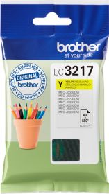 BROTHER ORIGINAL - Brother LC-3217 Jaune (550 pages) Cartouche de marque