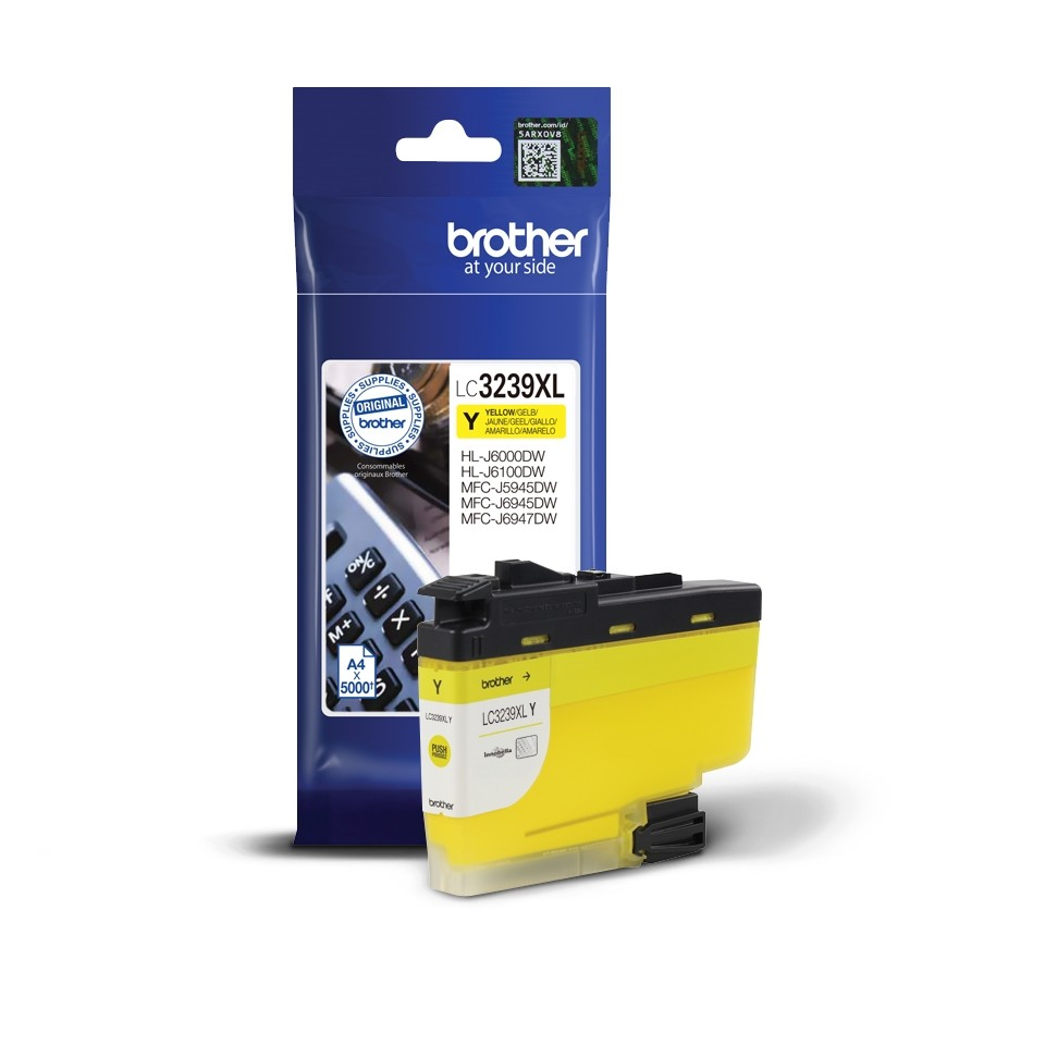 BROTHER ORIGINAL - Brother LC3239XL Jaune (5000 pages) Cartouche de marque