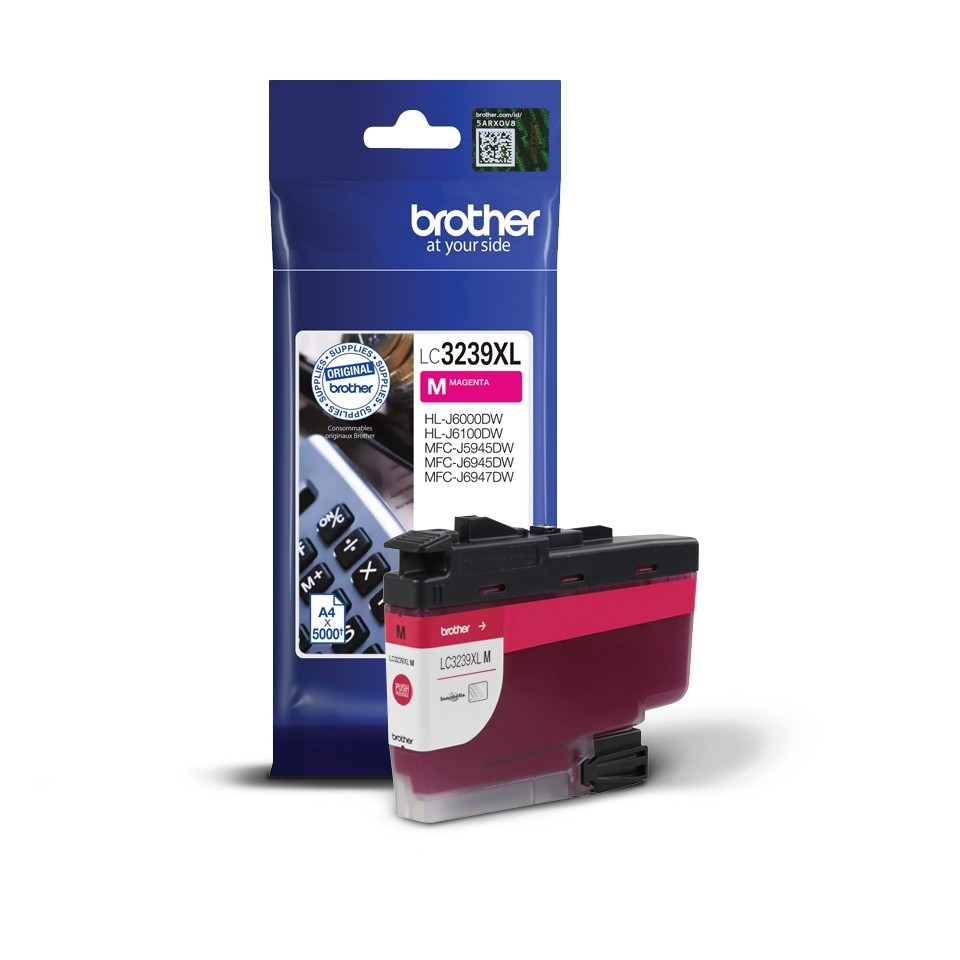 BROTHER ORIGINAL - Brother LC3239XL Magenta (5000 pages) Cartouche de marque