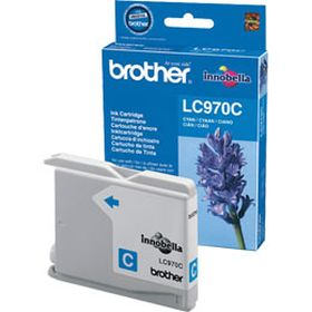 BROTHER ORIGINAL - Brother LC-970 Cyan (300 pages) Cartouche de marque