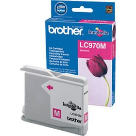 BROTHER ORIGINAL - Brother LC-970 Magenta (300 pages) Cartouche de marque