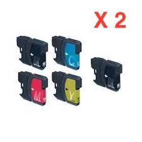 COMPATIBLE BROTHER - 1 ACHETE=1 OFFERT !  Pack 5 cartouches LC-980/ LC-1100