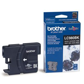 BROTHER ORIGINAL - Brother LC-980 Noire (300 pages) Cartouche de marque