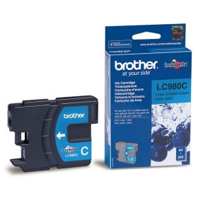 BROTHER ORIGINAL - Brother LC-980 Cyan (260 pages) Cartouche de marque
