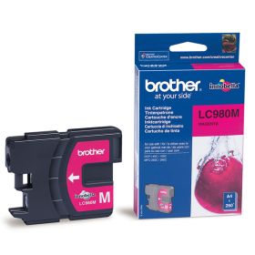 BROTHER ORIGINAL - Brother LC-980 Magenta (260 pages) Cartouche de marque