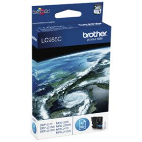 BROTHER ORIGINAL - Brother LC-985 Cyan (260 pages) Cartouche de marque