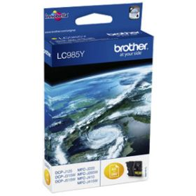 BROTHER ORIGINAL - Brother LC-985 Jaune (260 pages) Cartouche de marque