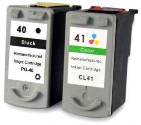 COMPATIBLE CANON - PG-40 / CL-41 Pack de cartouches recyclées noire + couleur en PROMO