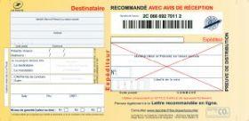 DIVERS - Liasses guichet Lire avec A.R et preuve de dépôt - Boite de 100 supports recommandés