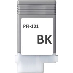 COMPATIBLE CANON - PFI-101 Noir Mat (130 ml) Cartouche alternative