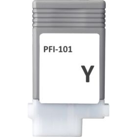 COMPATIBLE CANON - PFI-101 Jaune (130 ml) Cartouche alternative
