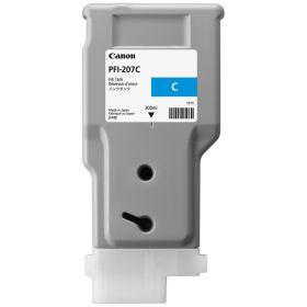 CANON ORIGINAL - Canon PFI-207 Cyan (300 ml) Cartouche de marque