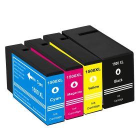 COMPATIBLE CANON - PGI-1500XL Pack x4 cartouches génériques Noir, Cyan, Magenta, Jaune