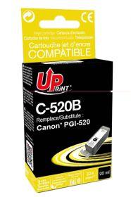 PREMIUM - UPrint PGI-520 Noir (20 ml) Cartouche remanufacturée Canon Qualité Premium (puce intégrée)