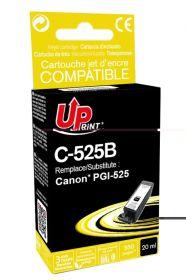 PREMIUM - UPrint PGI-525 Noir Cartouche remanufacturée  Canon Qualité Premium (puce intégrée)