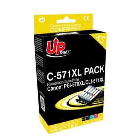 PREMIUM - UPrint PGI-570 CLI-571 Pack 5 cartouches Qualité Premium remanufacturées Canon