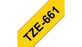 BROTHER ORIGINAL - Brother TZE-661 Ruban laminé noir sur Jaune, 36mm sur 8 mètres pour imprimante P-Touch