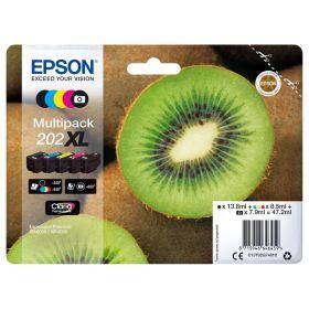 EPSON ORIGINAL - Epson 202XL Pack x 5 cartouches de marque grande capacité