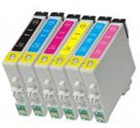 COMPATIBLE EPSON - T0487 Pack de 6 Cartouches génériques (avec Puces)