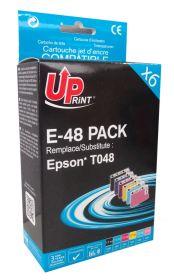 COMPATIBLE EPSON - 1 ACHETE = 1 OFFERT Pack de 6 Cartouches génériques Epson T0487 (avec Puces)