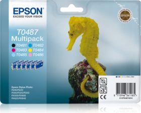 EPSON ORIGINAL - Epson T0487 Pack de 6 cartouches de marque