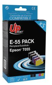 UPRINT/ QUALITE PREMIUM - UPrint T0556 Pack 5 cartouches compatibles Epson (2x T0551, 1x T0552, 1x T0553, 1x T0554) Qualité Premium