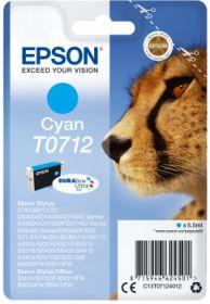 EPSON ORIGINAL - Epson T0712 Cyan Cartouche de marque