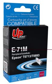 UPRINT/ QUALITE PREMIUM - UPrint T0713 Magenta Cartouche remanufacturée Epson Qualité Premium